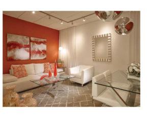 Interior Design Showroom Catalog | Now by Steven G, living room interior design, orange