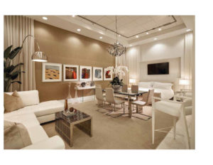 Interior Design Showroom Catalog | Now by Steven G, living room and dining room interior design, neutral tones, paintings